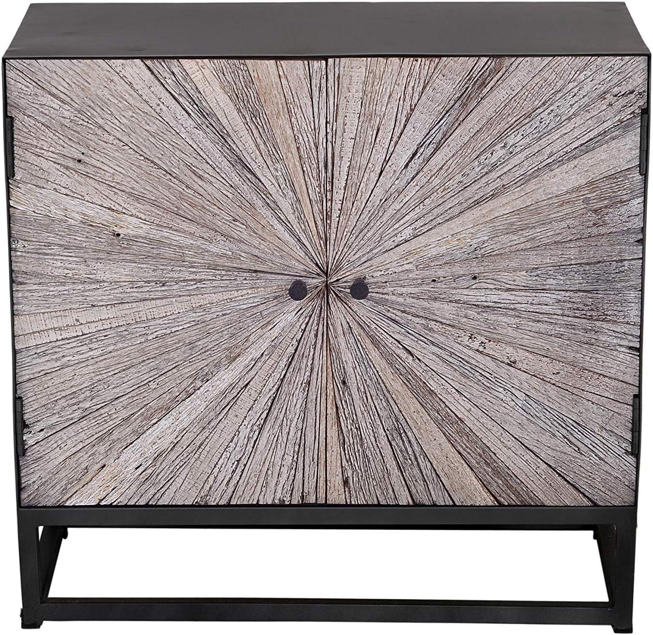 Jofran Inc. Reclaimed Wood Astral Plains 2 Door Accent Cabinet, Grey