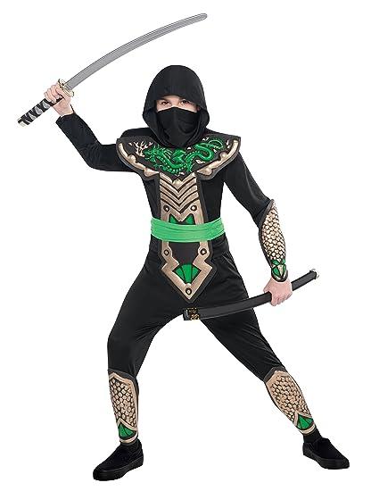Disfraz de ninja dragón para niños en varias tallas
