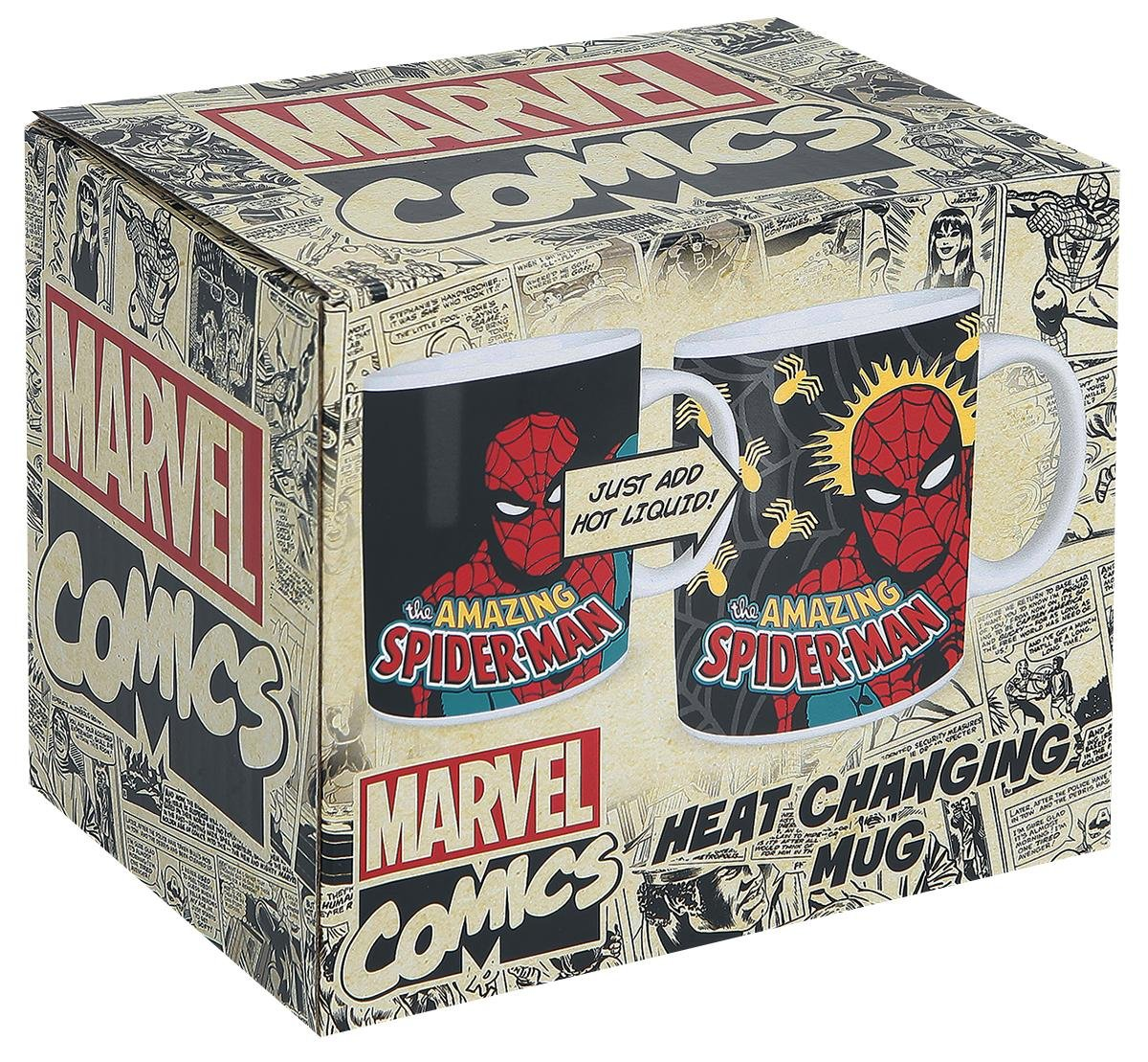 Spider-Man Heat Change Mug Tazas multicolor: Amazon.es: Hogar