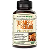 Turmeric Curcumin with BioPerine. Inflammatory Response Support, Antioxidant Properties Supplement with 10 milligrams of Blac