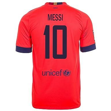 67239e793 Amazon.com  NIKE Messi  10 FC Barcelona Away Men Jersey 2014-2015 ...