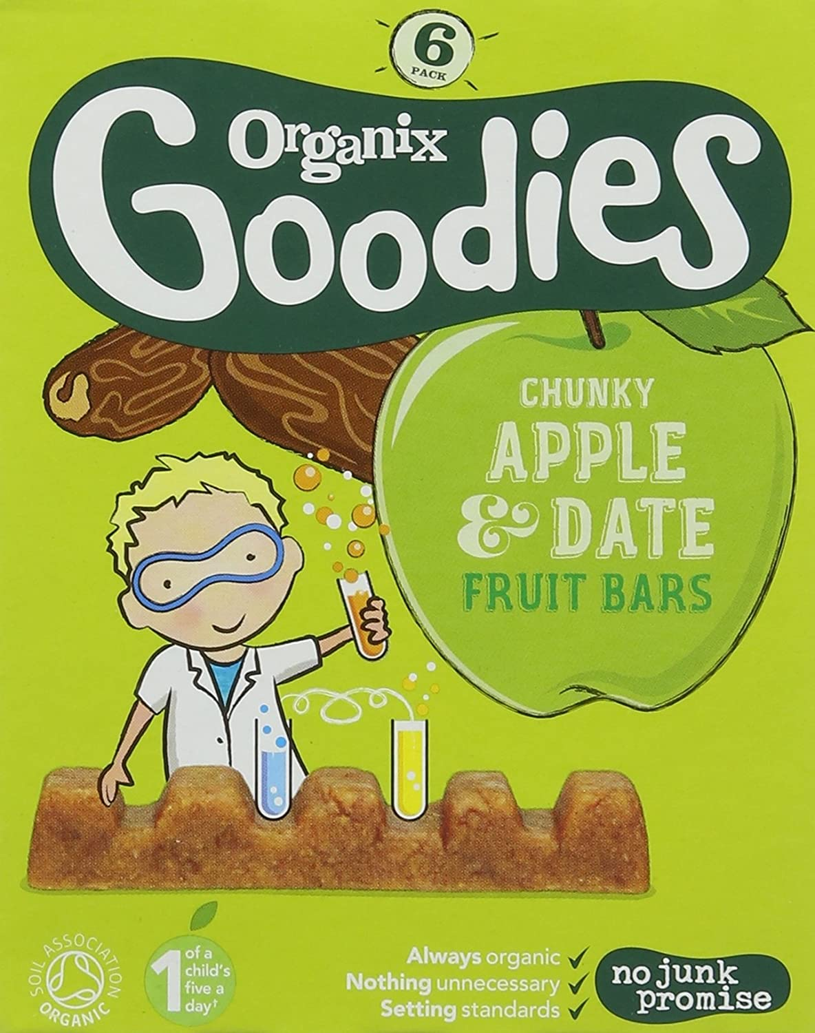 Goodies Organic Date and Apple Chunky Fruit Bars 17 g (Pack of 3) 82754