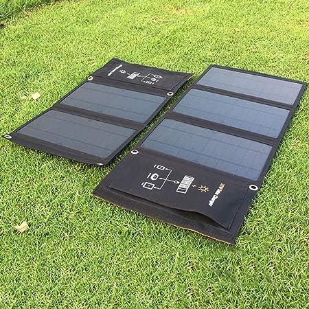 QCHNES Cargador Solar Panel Solar de 21 vatios con 2 Puertos ...