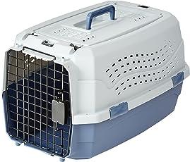 Amazon Basics 6009-M Jaula para mascotas, doble puerta, entrada superior 58 cm