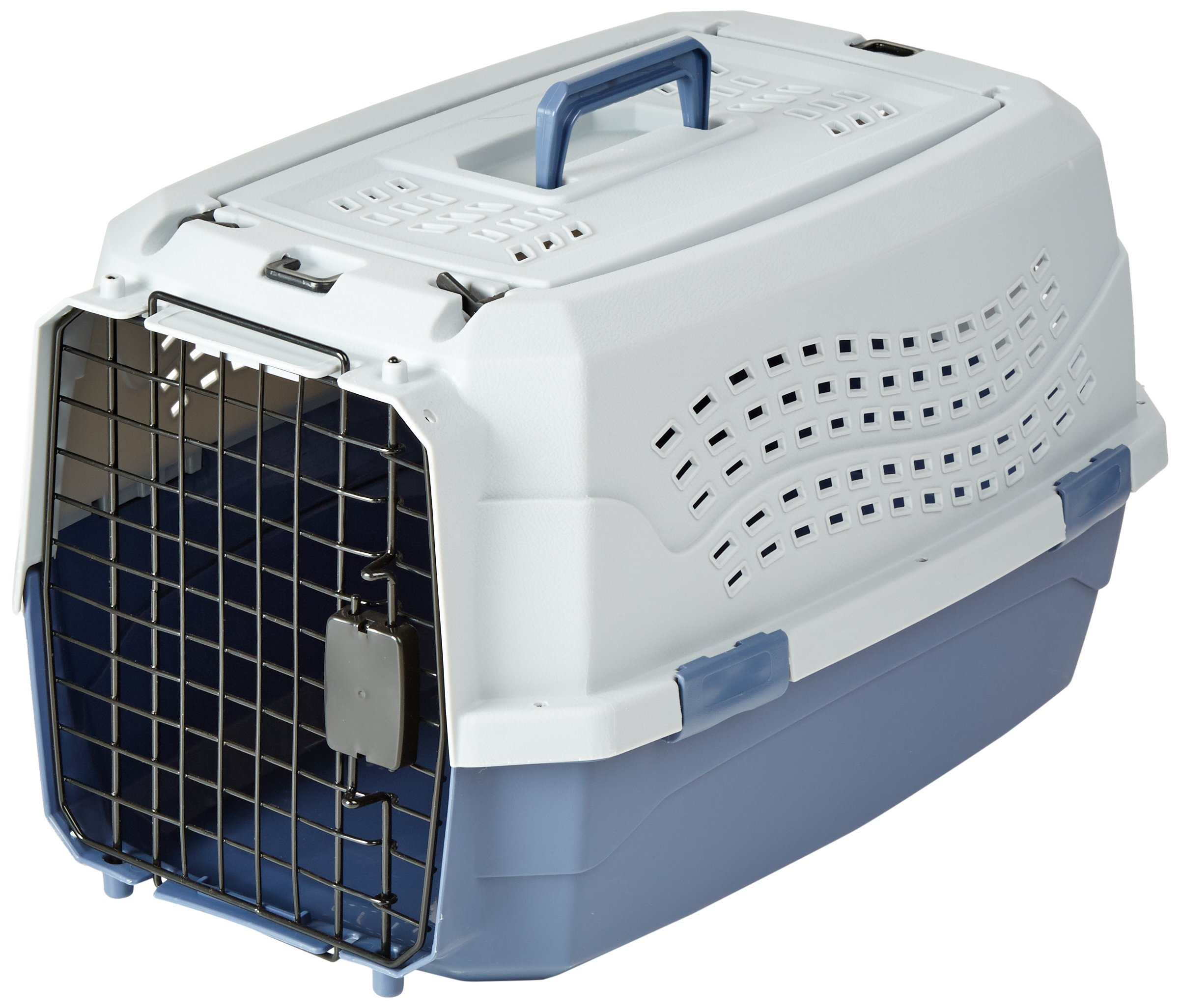 AmazonBasics Top-Load Pet Travel Kennel Carrier Crate For Cats Or Dogs - 13 x 15 x 23 Inches by AmazonBasics