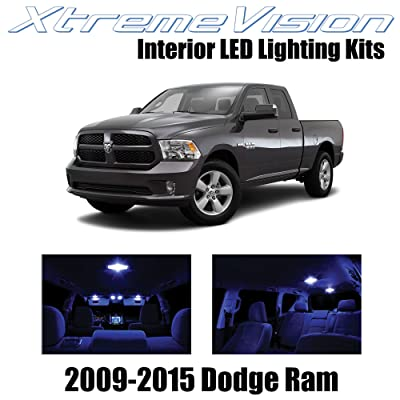 XtremeVision Interior LED for Dodge Ram 2009-2015 (6 Pieces) Blue Interior LED Kit + Installation Tool: Automotive