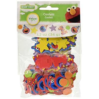 "Amscan 361835 Sesame Street""Elmo Turns One"" Value Pack Confetti, Birthday, Multicolor: Toys & Games"