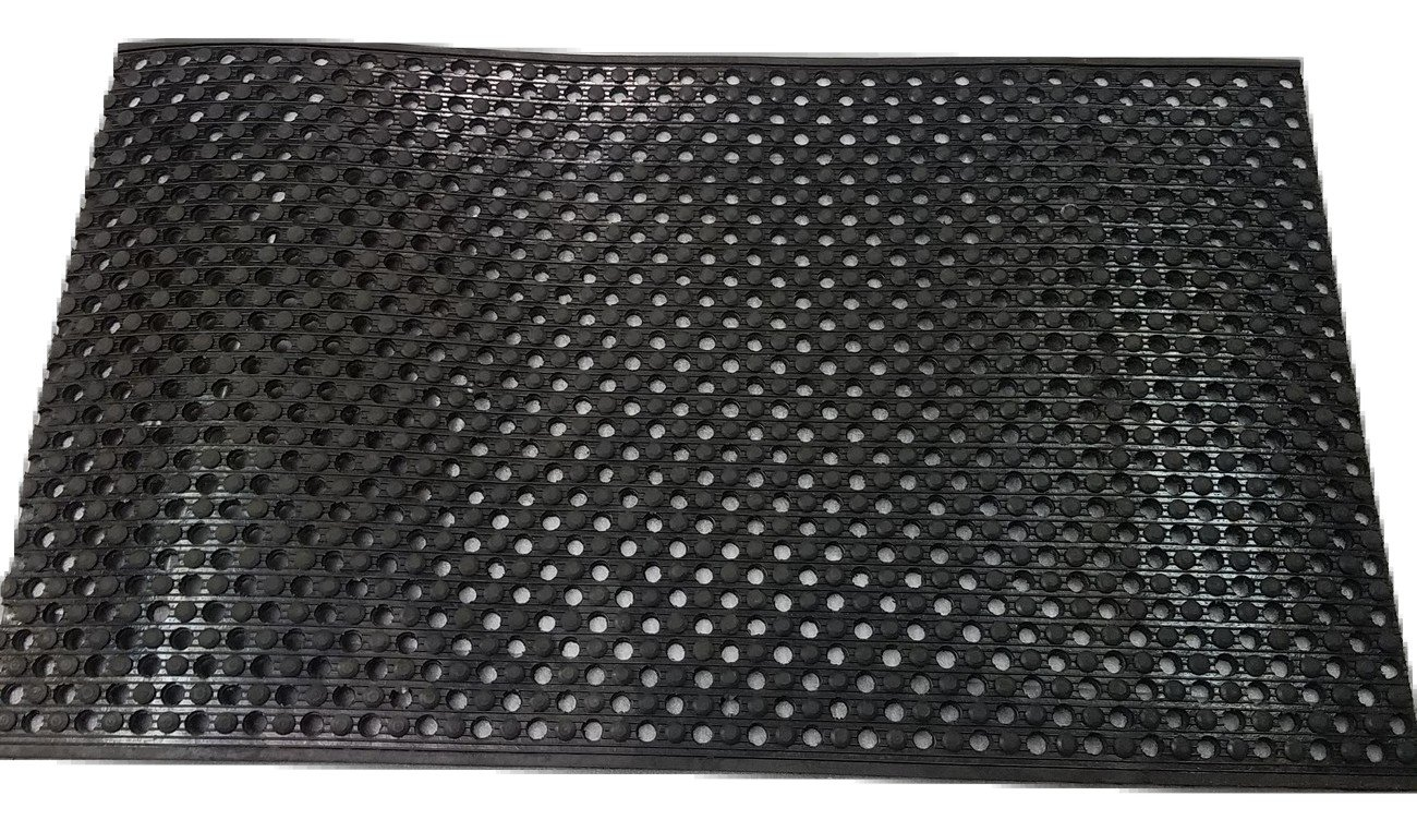 Rhino Mats TED-2436 Tritan Extreme Duty Mat, 2' Width x 3' Length x 5/8'' Thickness, Black by Rhino Mats