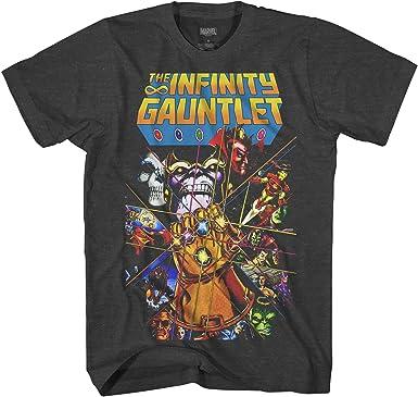 Marvel Thanos Avengers Infinity Gauntlet Hulk Spider-Man Iron Man Strange Adult Tee Graphic T-Shirt for Men Tshirt Clothing