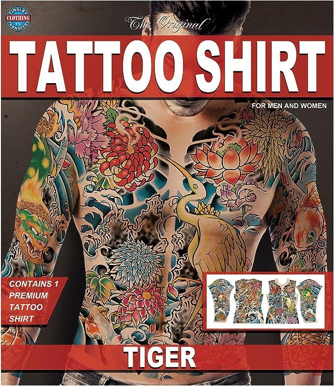 Tinsley Transfers Tatuaje Del Tigre Camisa De Fx, Grande/Extra Grande: Amazon.es: Hogar