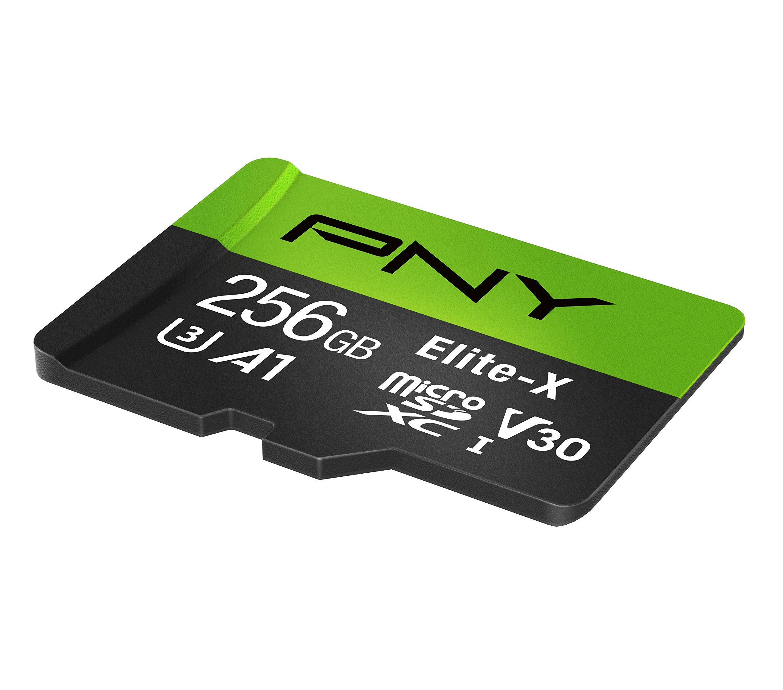 PNY Elite-X microSD 256GB, U3, V30, A1, Class 10, up to 100MB/s – P-SDU256U3100EX-GE by PNY (Image #2)