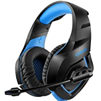 ONIKUMA Gaming Headset über Ohr Stereo Gaming Kopfhörer mit Noise Cancelling Mic für Nintendo Switch PS4 Xbox One PC Laptop Smartphones