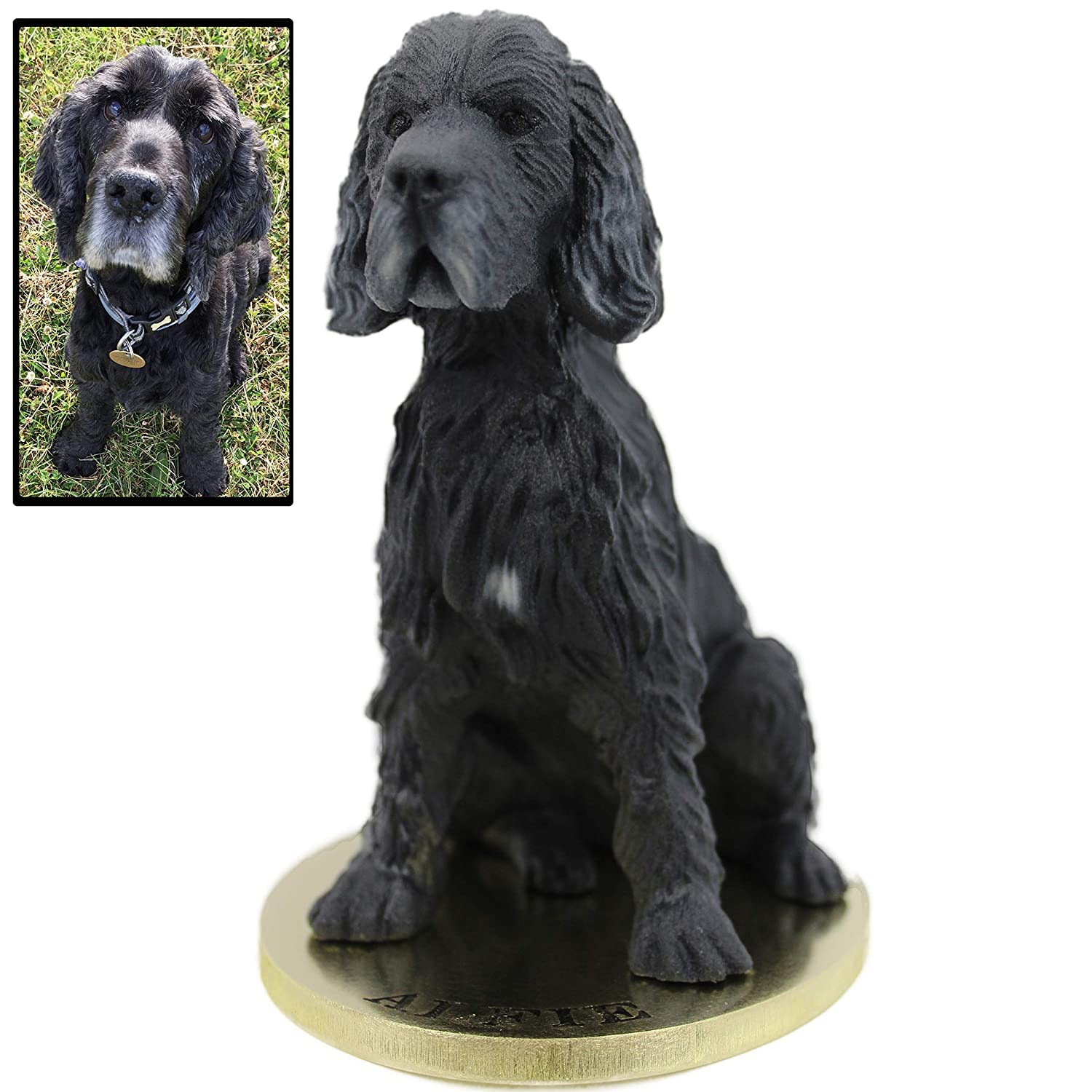 Arty Lobster Cocker Spaniel Dog Statue from Your Photos   Full Colour Stone Sculpture 20cm Memorial