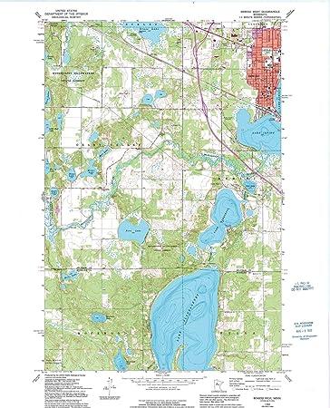 Bemidji Minnesota Map.Amazon Com Minnesota Maps 1968 Bemidji West Mn Usgs Historical