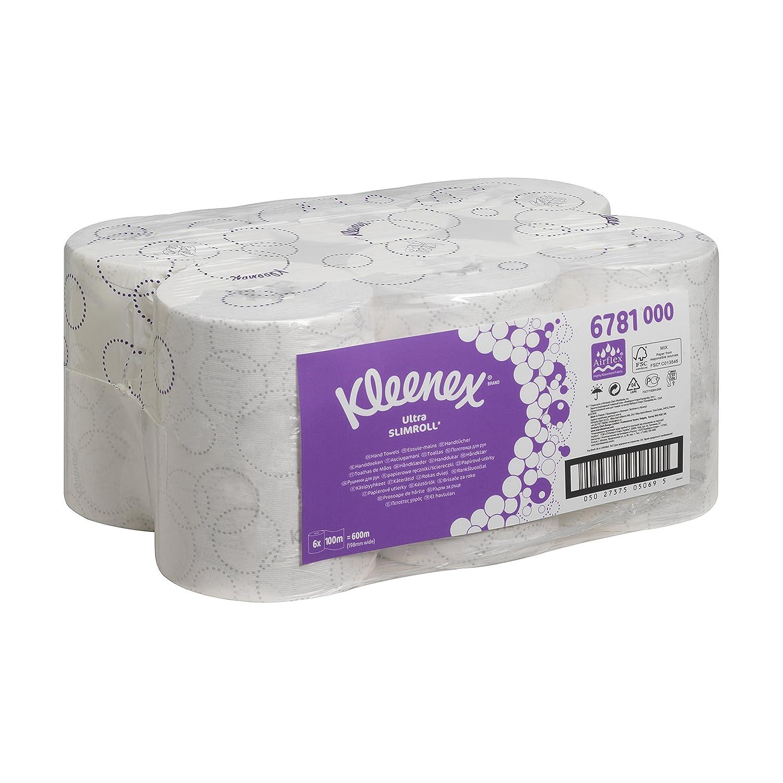 Kleenex 06781000 Toallas Secamanos en Rollo, 6 X 100 m con 2 Capas, Blanco: Amazon.es: Industria, empresas y ciencia