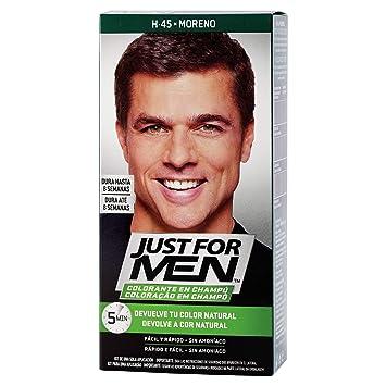 JUST FOR MEN Colorante en champú - Tinte para las canas del pelo para hombres - castaño moreno - 30 ml
