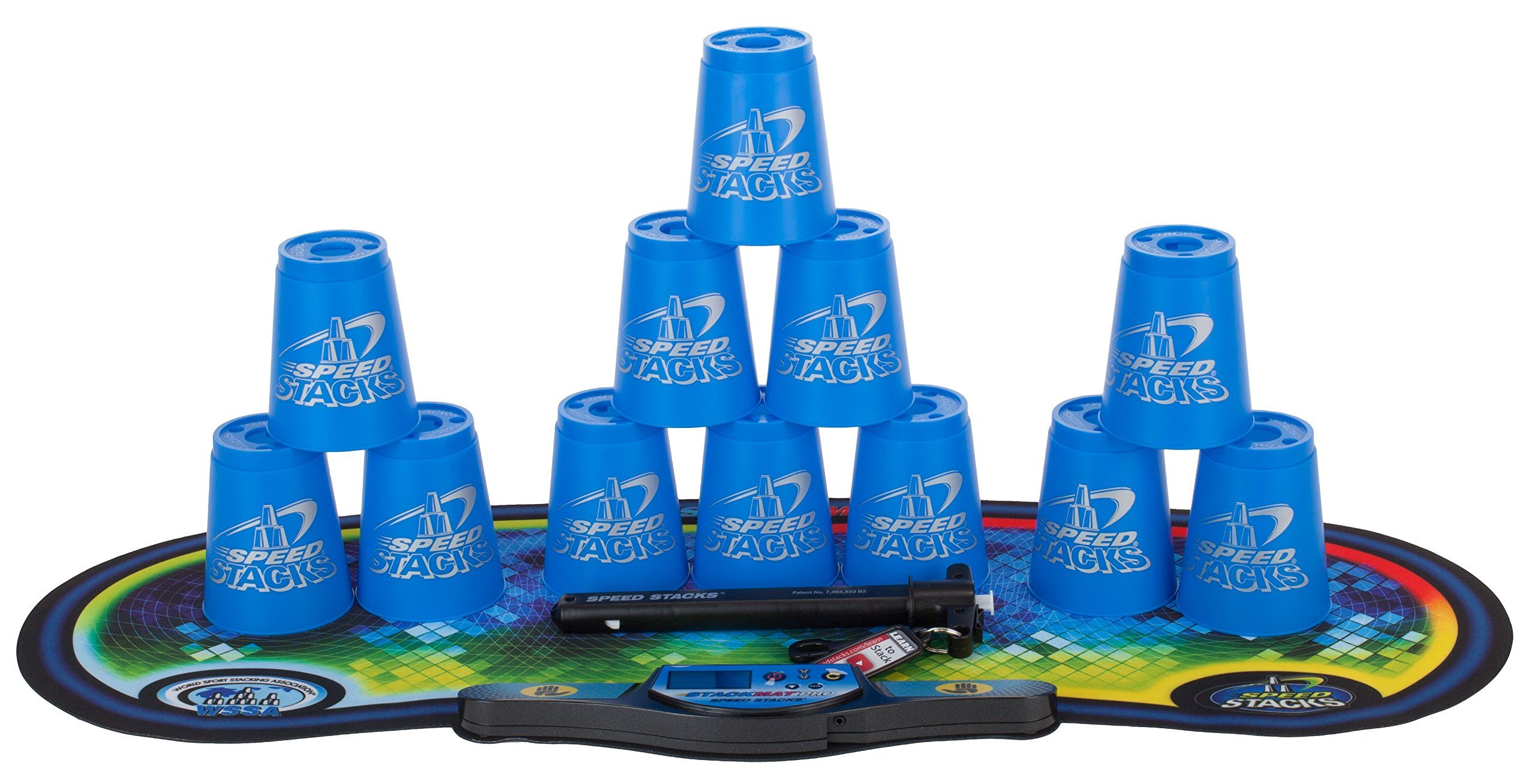 Speed Stacks Cups Competitor Sport Stacking Set Mat And Pro Timer Blue 12 Cups 696734103744 Ebay
