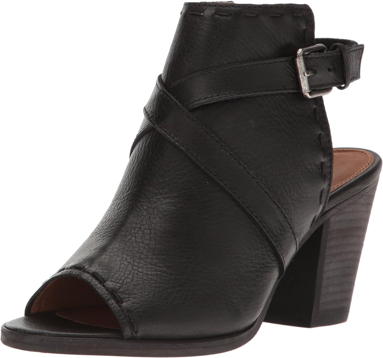 FRYE Womens Dani Pickstitch Shield Heeled Sandal
