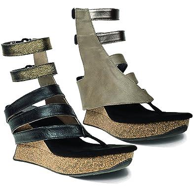 7a6faa4b58c9 Modzori Laila Women s High Wedge Twister Sandal (6 M ...