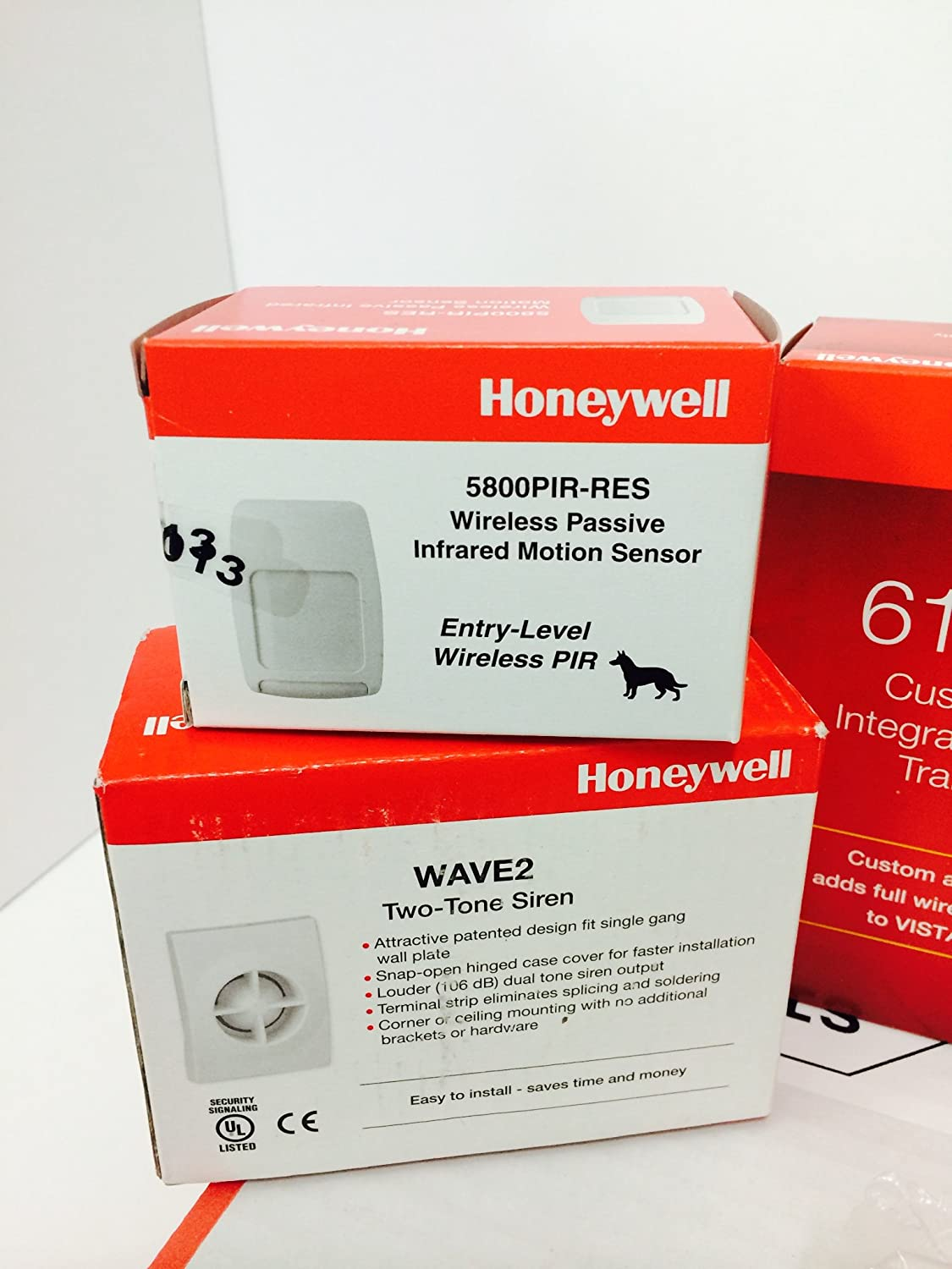 Honeywell Vista 20P, 6160RF, (3) 5816WMWH, (2) 5834-4, 5800PIR-RES, Battery, Siren, Jack and Cord Kit Package