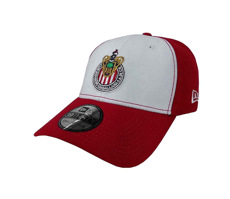 Amazon.com: New Era 39Thirty Hat Chivas De Guadalajara Liga MX Soccer White/Red Flex Cap: Clothing