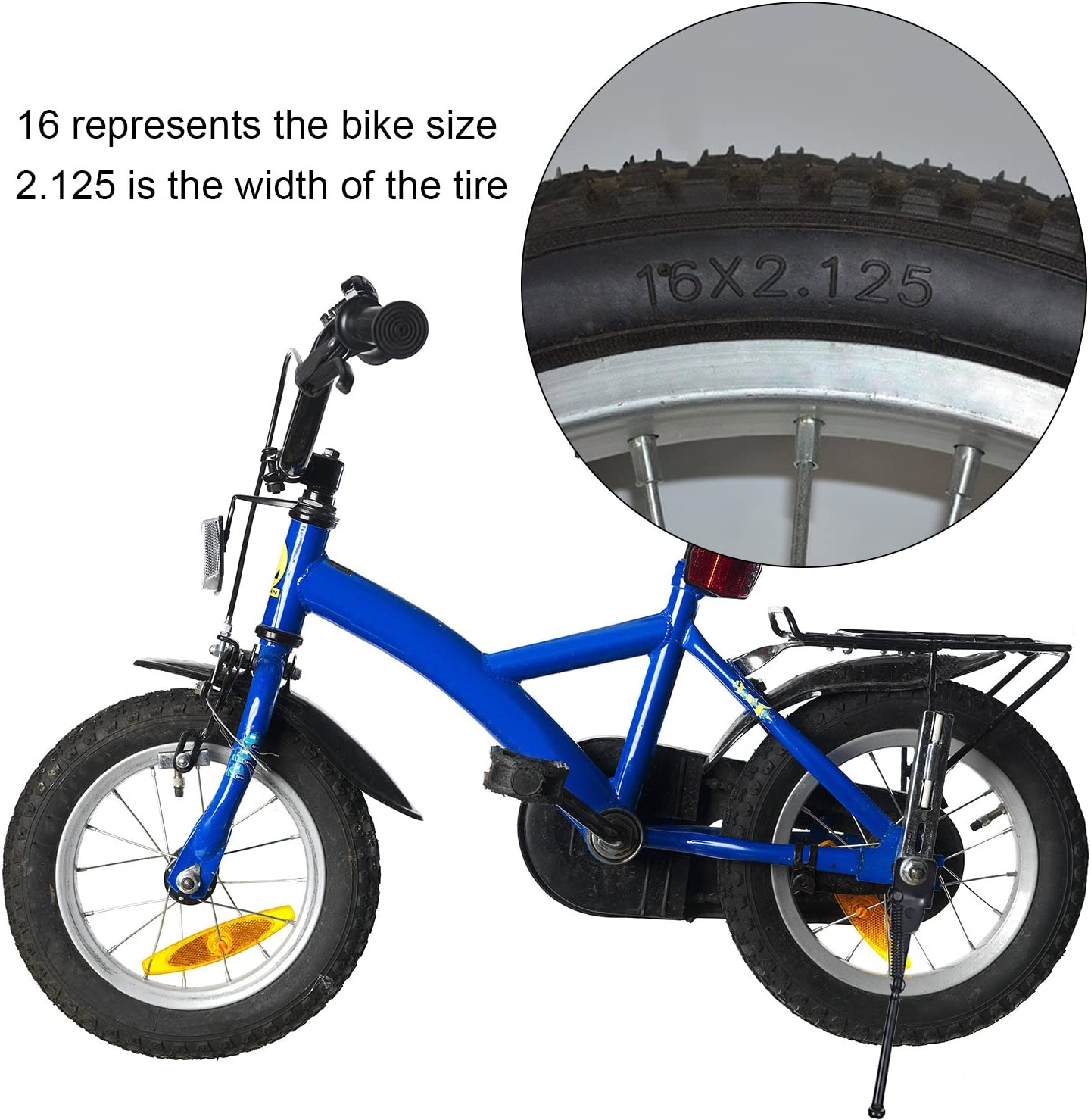 TOPCABIN Bike Kickstand,Child Bicycle Kickstand Single-Side Stand Folding Bicycle Stand Support Rear Mount for 12 14 16 18 20 inch Kids Bike