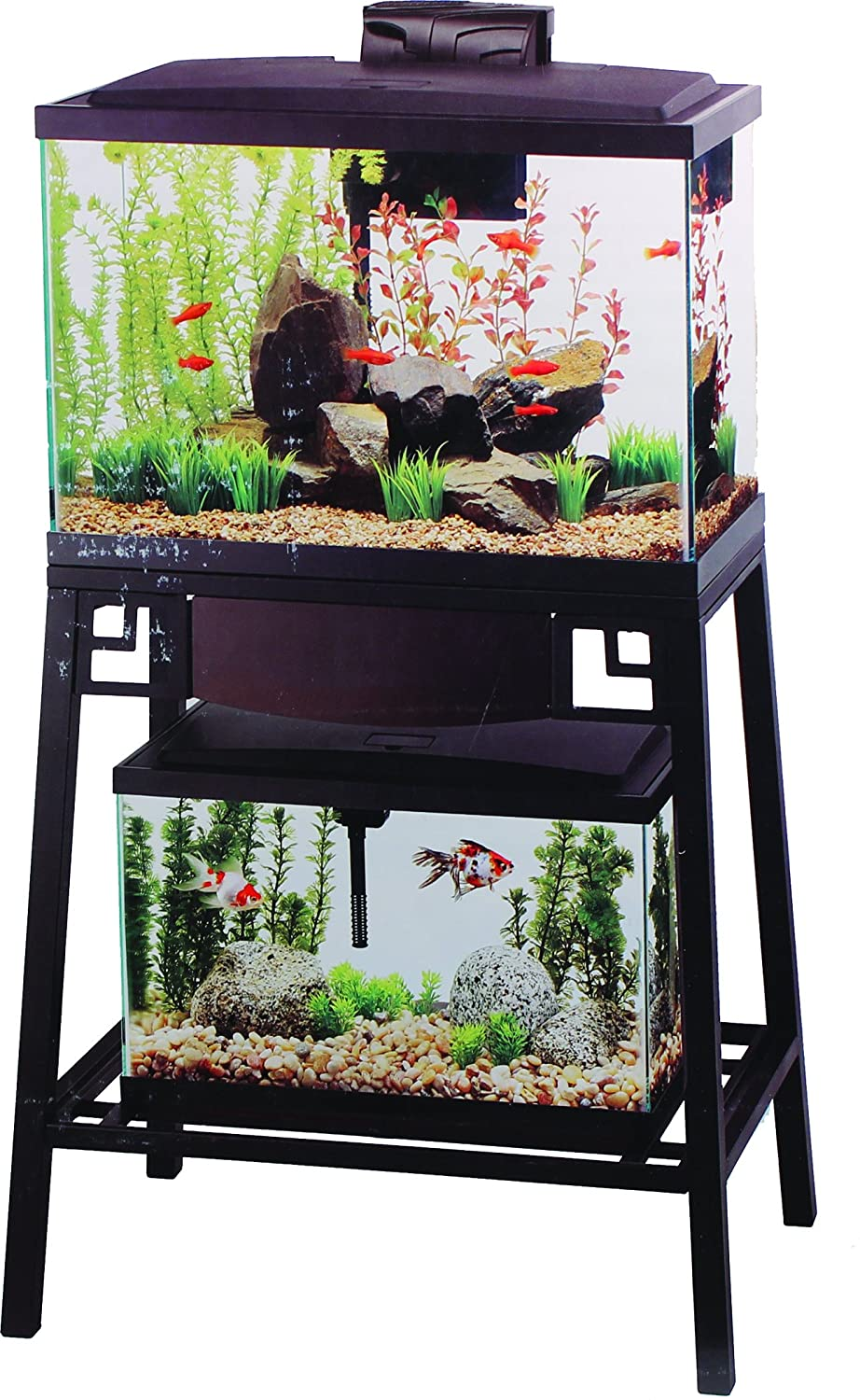 Aqueon Forge Metal Aquarium Stand 24 by 12-inch Black