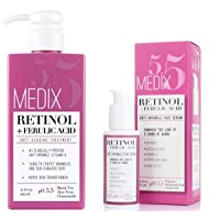 Medix 5.5 Retinol Cream & Retinol Serum two-piece set. Anti-aging retinol set w/...