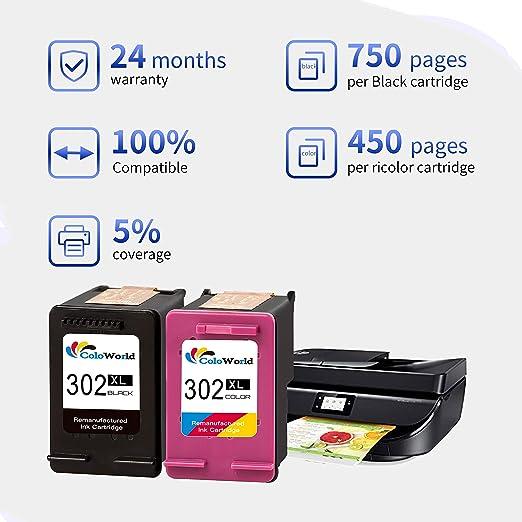 ColoWorld 301XL Cartuchos de tinta para impresora HP 301 ...