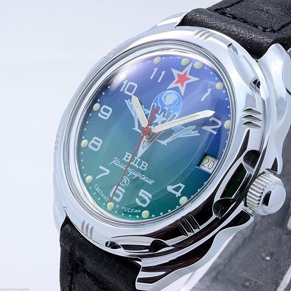 Vostok KOMANDIRSKIE 211818/2414 un militar ruso de las fuerzas especiales reloj verde VDV Paratrooper
