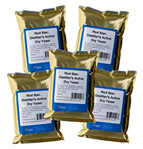 Home Brew Ohio-HOZQ8-1327 Red Star DADY 1 lb. Distiller's Yeast, (Pack of 5) - Silver