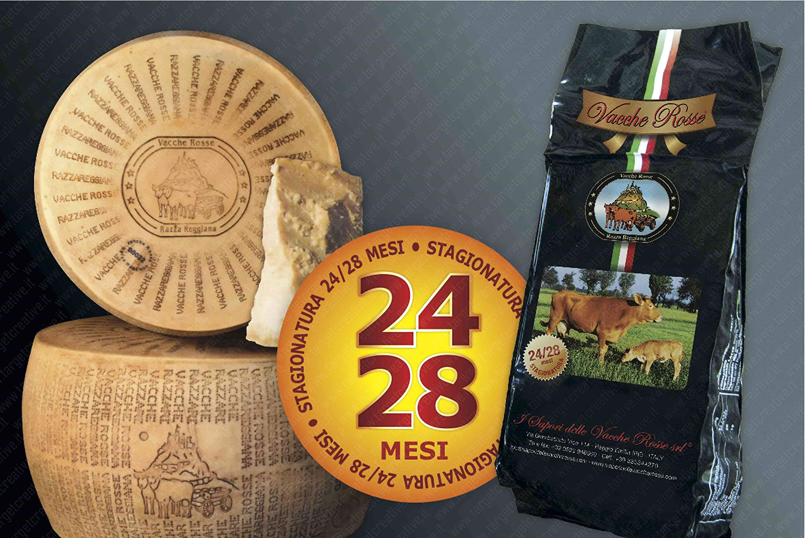 I Sapori Delle Vacche Rosse - Cheese Vacche Rosse - 24/28 Months (1 kg) by YesEatIs (Image #2)