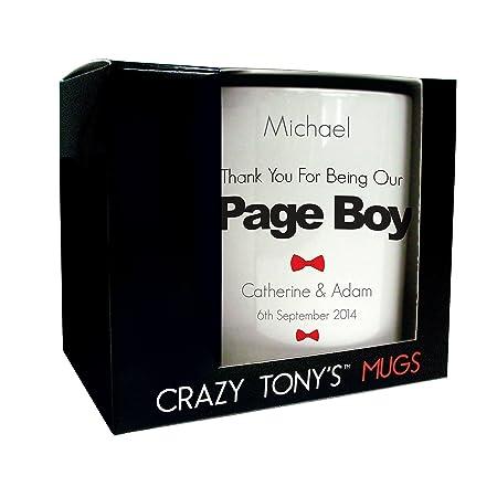 Personalised Page Boy Mug Page Boy Gifts Wedding Thank You Gifts