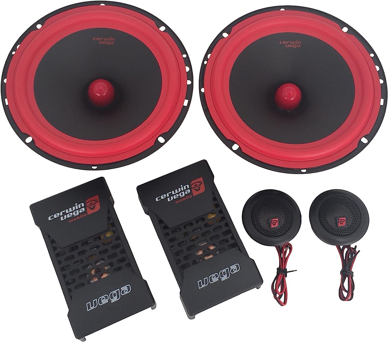 CERWIN VEGA V465C 6.5-Inch 400 Watts Max/100Watts RMS Power Handling 2-Way Component Speaker Set