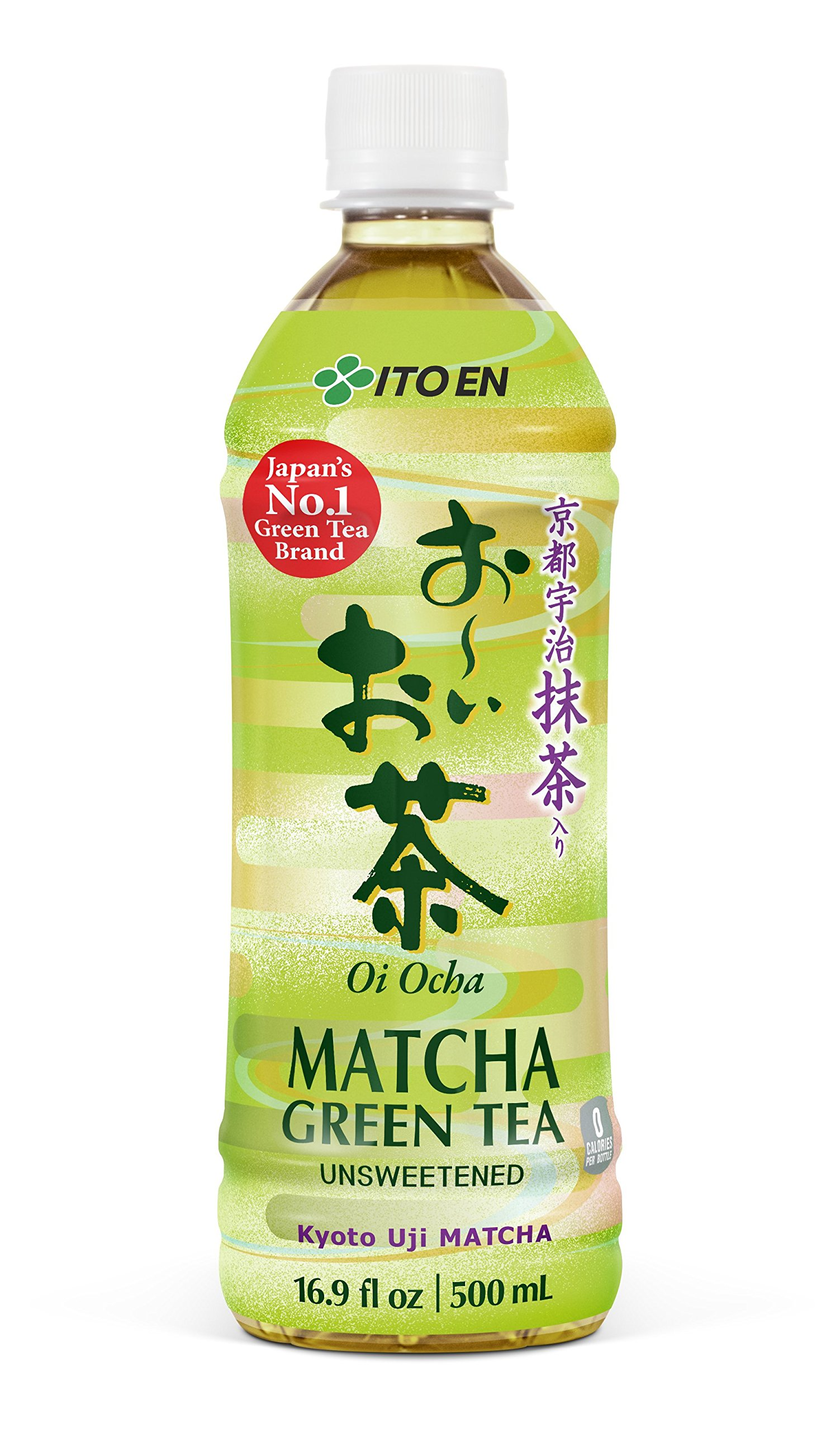 Oi Ocha Matcha Green Tea Unsweetened, 16.9 Ounce Bottle (Pack of 12), No Sugar, No Artificial Sweeteners, Antioxidant Rich, Authentic Japanese Green Tea, Caffeinated