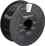 AmazonBasics PLA 3D Printer Filament, 1.75mm, Black, 1 kg Spool