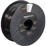 Amazon Basics PLA 3D Printer Filament, 1.75mm, Black, 1 kg Spool