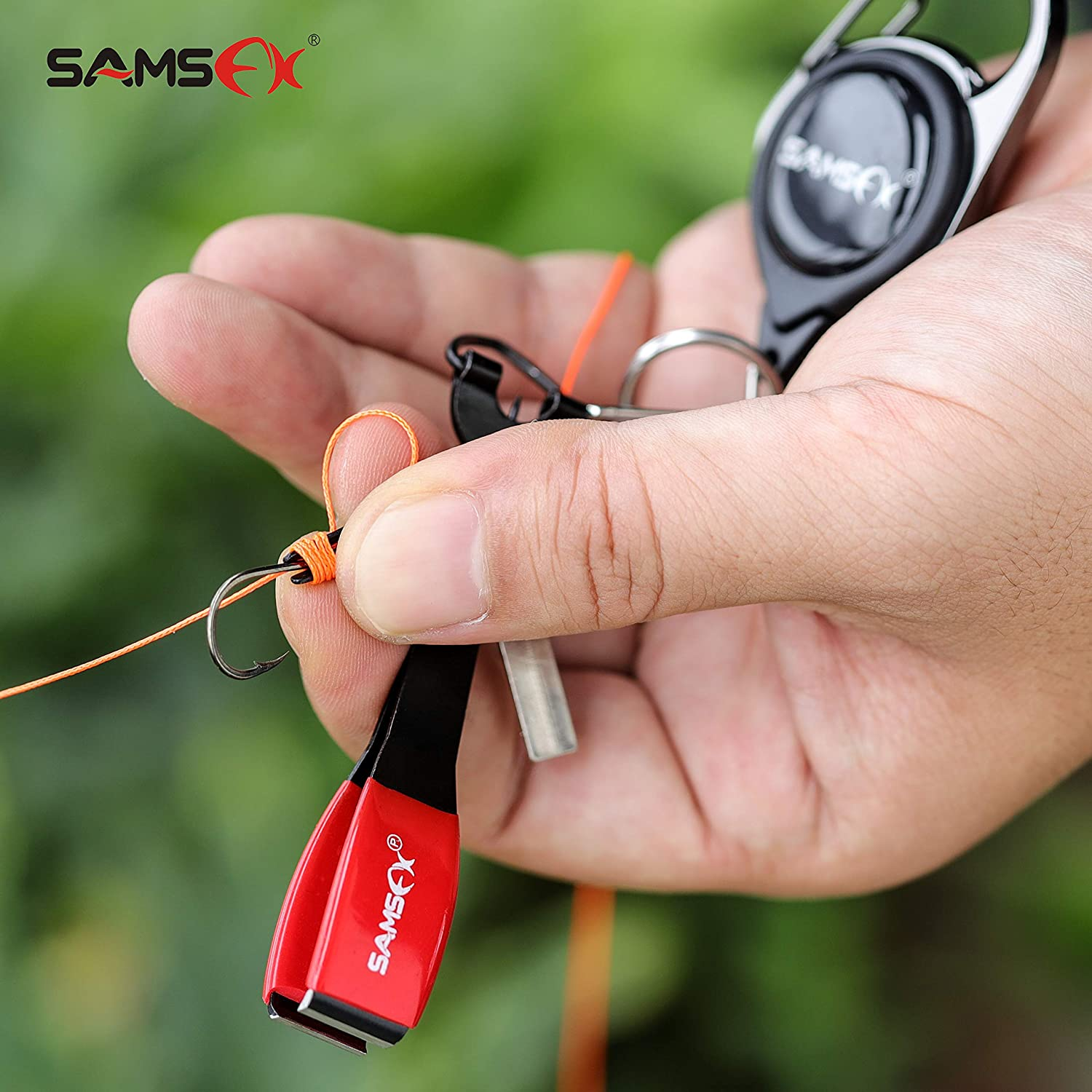 Quick Knot Tying Tool 4 in 1 Fishing Mono Line Clipper W// Retractor Kit US