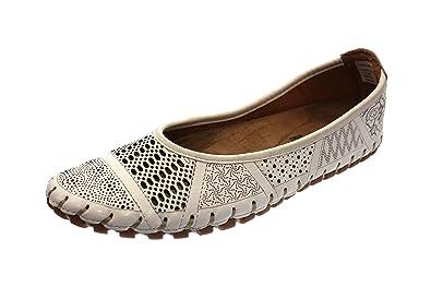 Gemini Damen Ballerina Weiß 31219 02 001: : Schuhe