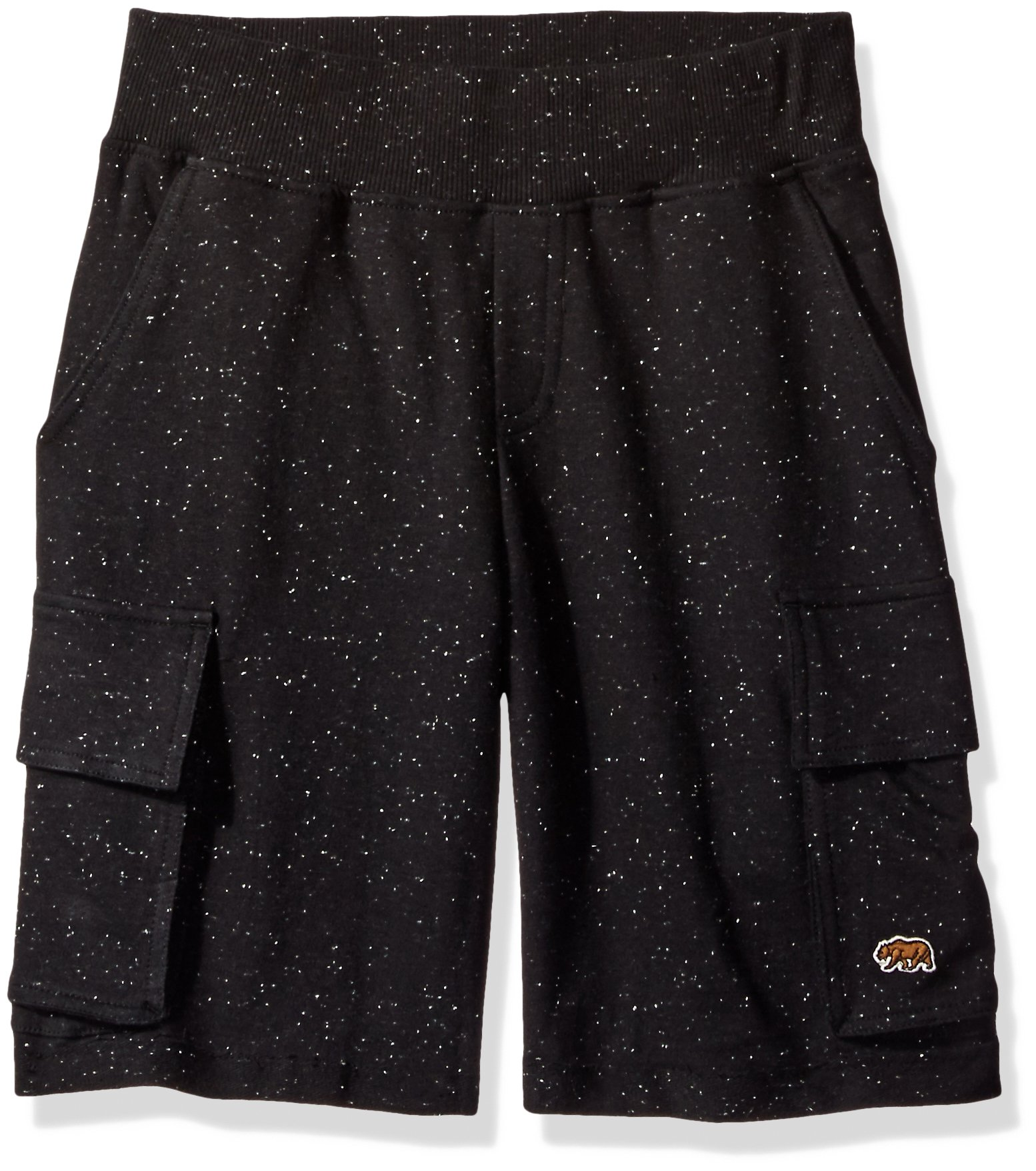 Lucky Brand Toddler Boys' Currents Short, Black Heather, 2T