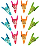Set of 12 Black Duck Brand All Purpose Magnetic Clips Colorful Bag Clips, Chip Clips Assorted Colors Comfort Grip (12)