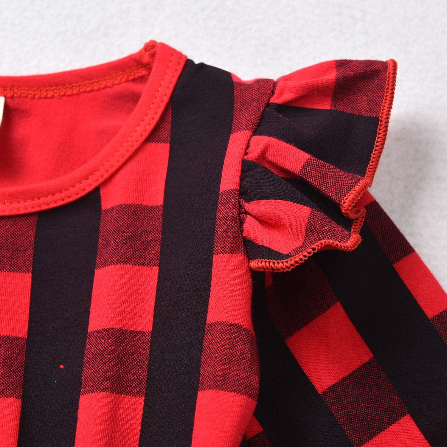 YOUNGER TREE Toddler Kids Baby Girls Plaid Dress Long Sleeve Princess Checked Party Dresses Cotton Outfits
