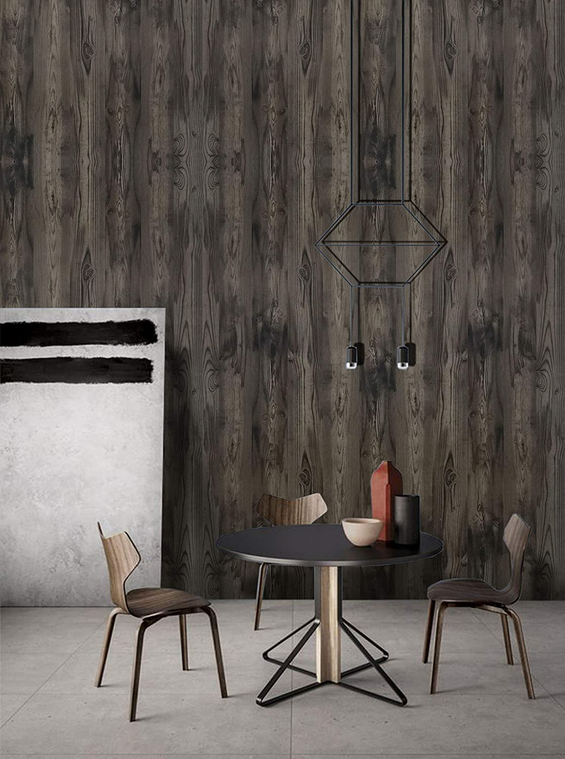 """Wood Contact Paper Wood Grain Contact Paper Wood Wallpaper Removable Wood Peel and Stick Wallpaper Wood Texture Wall Paper Decorative Wall Covering Self Adhesive Wallpaper Vinyl Film Roll 17.7/""""x78.7/"""""""
