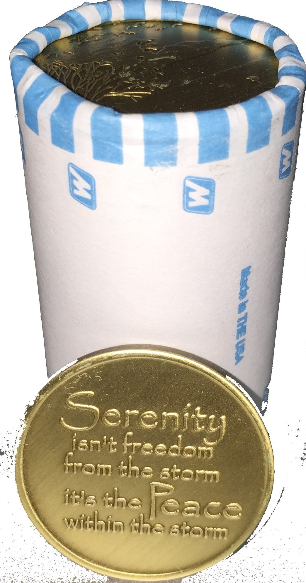 Bulk Lot of 25 Serenity Lake Peace Within The Storm Bronze Medallions Chip Wholesale Set by RecoveryChip (Image #5)