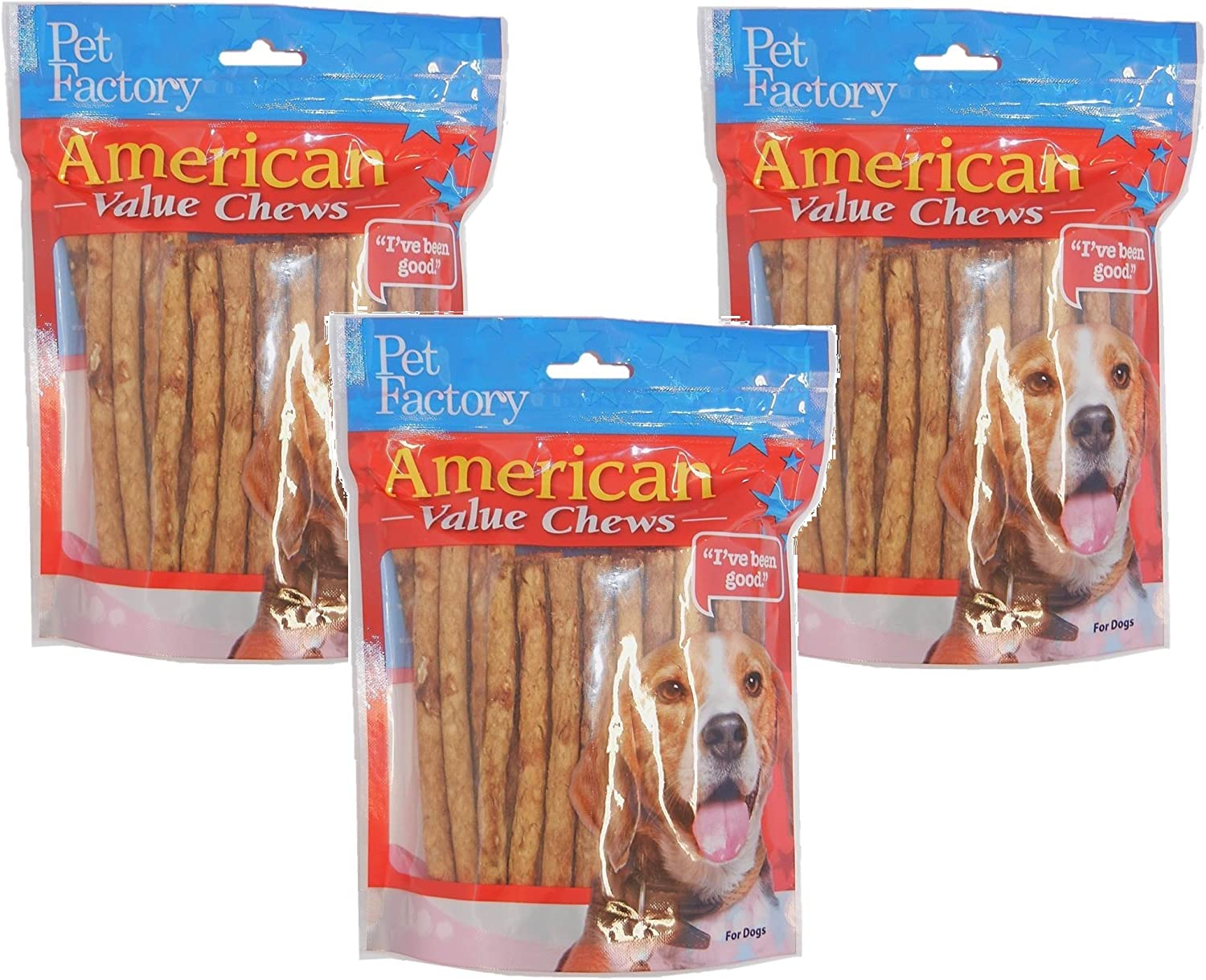 Pet Factory Chicken Dog Roll, 120 Total (3 Packs with 40 Rolls per Pack)