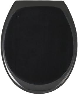 wenko 18441100 abattant ottana descente progressive noir thermodur - Poubelle Salle De Bain Noir