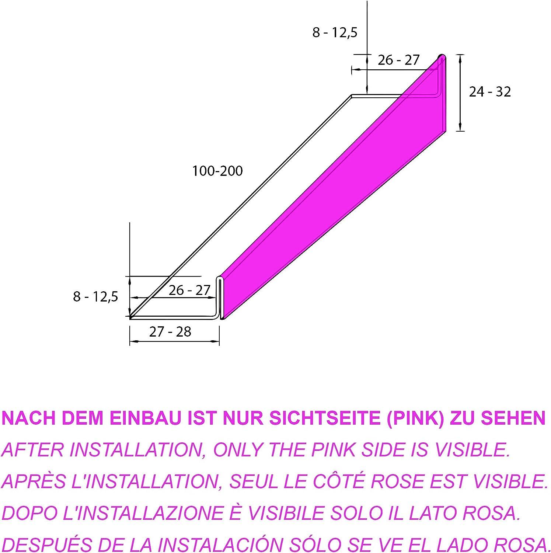 Droit FUCHS caniveau de douche profil/é acier inox bross/é 100 cm Longueur 12,5 mm//24 mm Hauteur