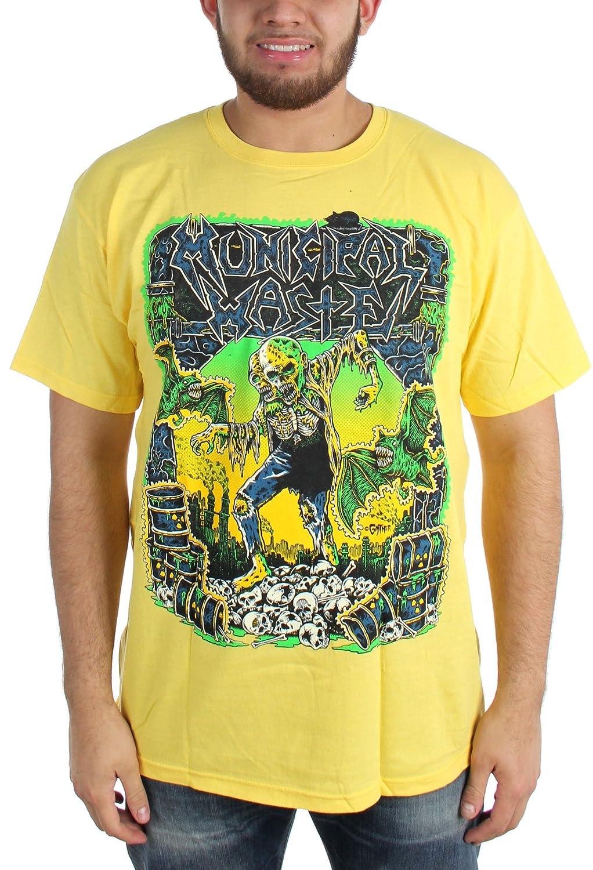Municipal Waste - Mens Gaither Yellow T-Shirt