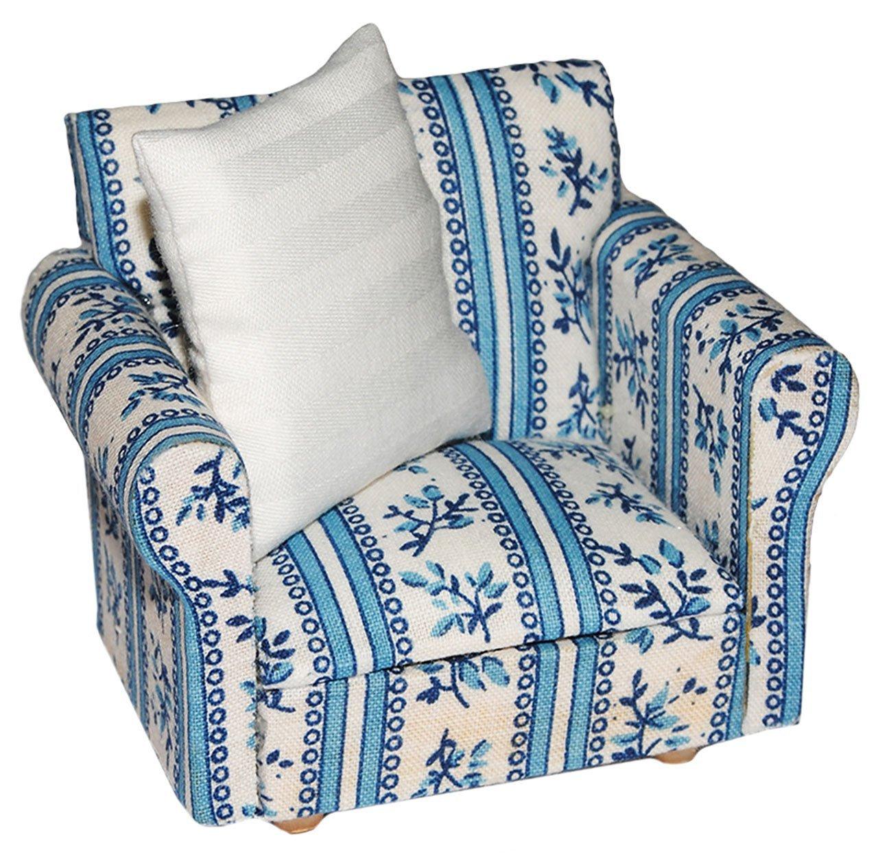 Set Miniatur Wohnlandschaft Sofa Couch Sessel Hocker Mit Kissen