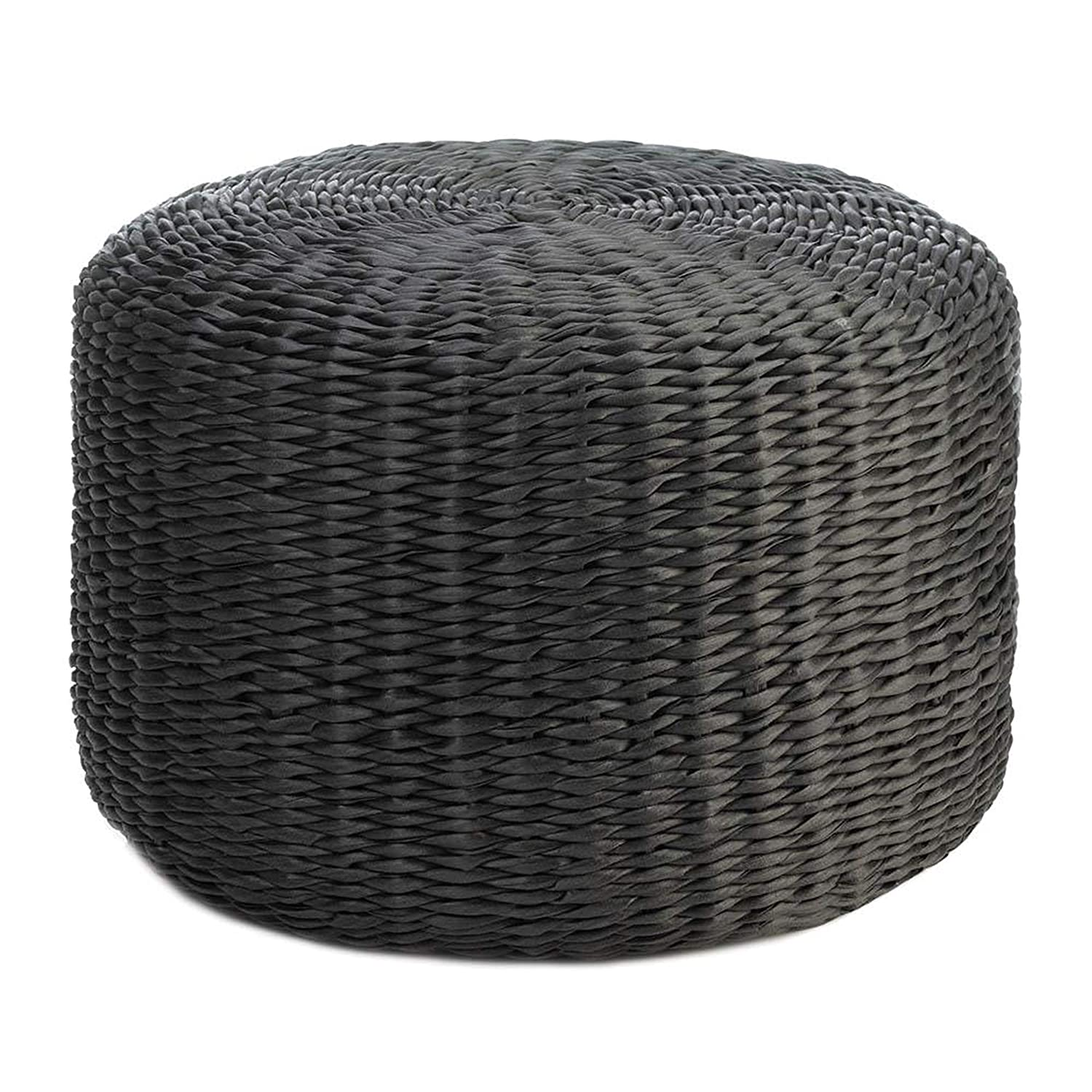 Fine Amazon Com Round Wicker Ottoman All Weather Woven Ottomans Alphanode Cool Chair Designs And Ideas Alphanodeonline